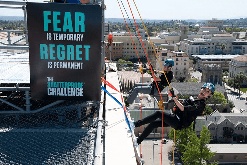 Executives Rappel Down Skyscrapers for Addiction Awareness