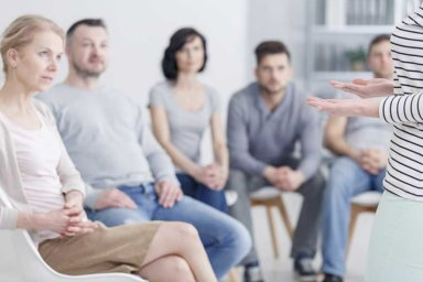 group therapy in a non 12 step drug rehab program